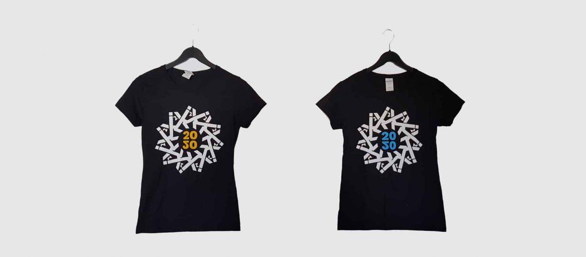 Je ein T-Shirt von der Contentixx und der SEO Campixx 2020